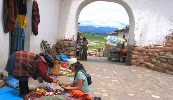 Practicing how to bargain in Chinchero