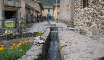Inca water chanel in Ollantaytambo