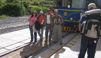 Our team ready to board the Vistadome to Aguas Calientes