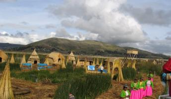 Uros island welcome.