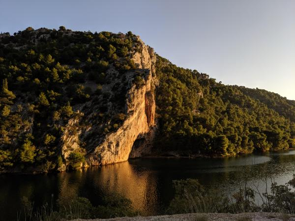 Hiking along the Krka River