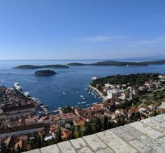 Overlooking the Hvar Harbor from the Spanish Fortress
