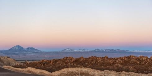 Soft colors over Chile's stunning Atacama desert