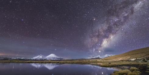 Observe the night sky over the Atacama desert