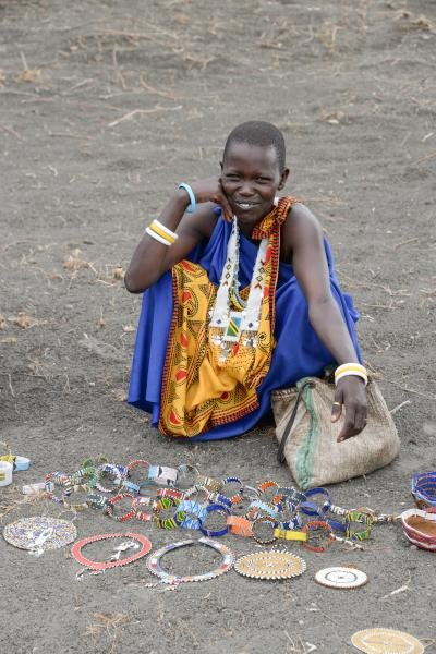 Lovely Maasai ladies showing us their handmade items for sale.