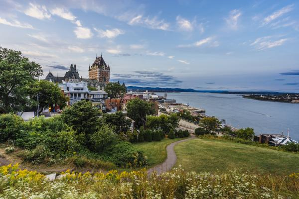 Explore the parks around Quebec City for a view of the city