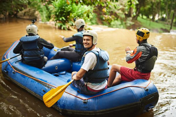 Setting off on a rafting adventure!