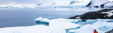 Hiking for a stunning view of Antarctica