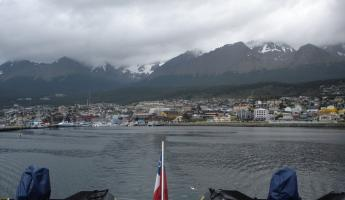 Starting the expedition, leaving Ushuaia