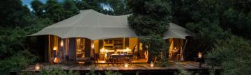 Intimate luxury at the Mara Plains Camp