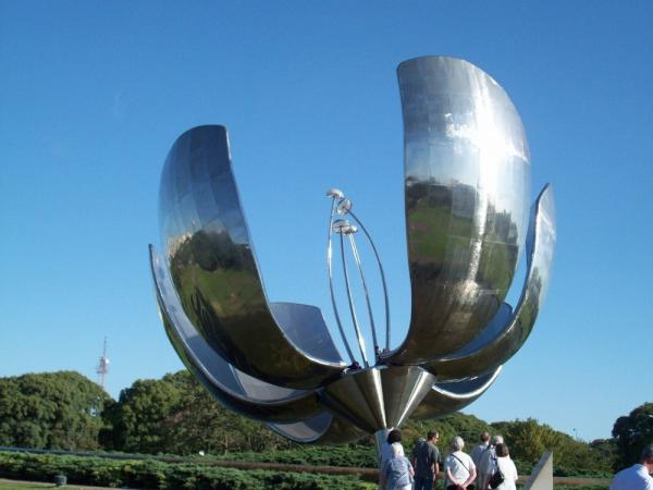 Floralis Generalica Sculpture-Petals Open and Close Daily