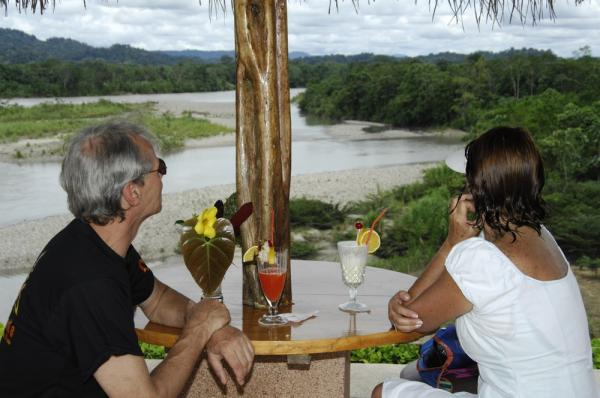 Enjoy a cocktail in the Ecuadorian Amazon