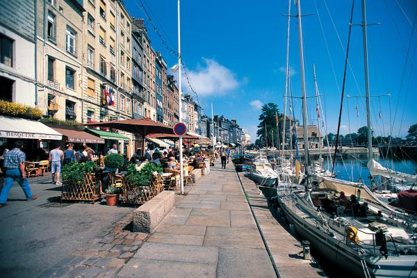 Honfleur port and city streets