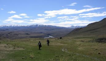 Exploring the area around Torres del Paine