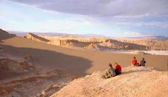 Looking out over the Atacama Desert