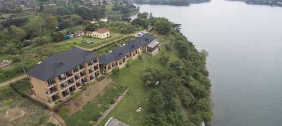 Emeraude Hotel looking out over Lake Kivu