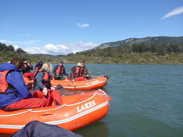 Our boats in Tierra del Fuego