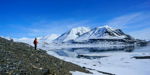 Hiking in Spitsbergen