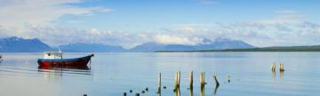 Beautiful view near Puerto Natales, Chile