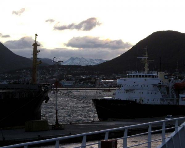 last view of Ushuaia as we pull away from the dock