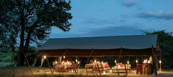 Relax at the beautiful Zambian bush camp of Nkonzi