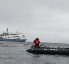 Zodiacs ferried us to shore in all kinds of weather