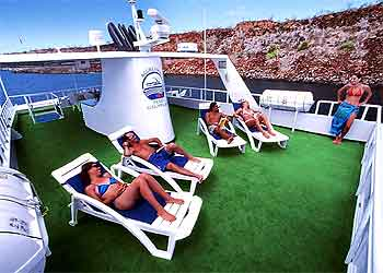 Get a tan on the sun deck