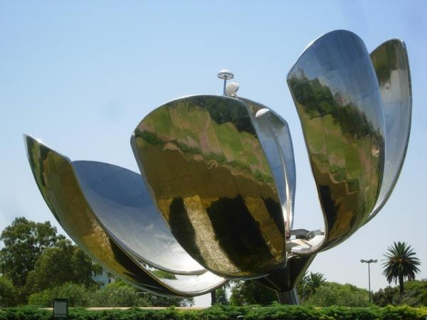A large flower sculpture
