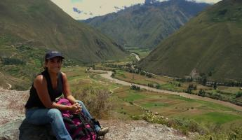 VIEW OF SACRED VALLEY FROM CACHICCATA FD TREK