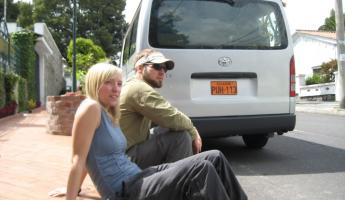 With the van in Quito