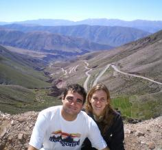 Pancho and Dani with the Lipan Slope behind