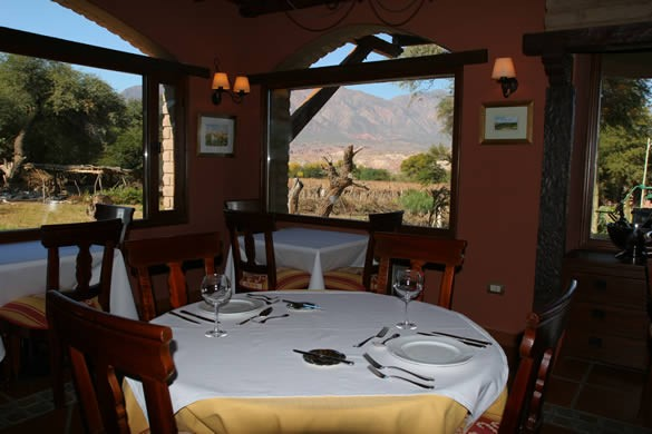 Take in the incredible view over dinner