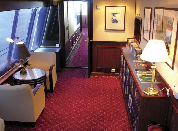 Cozy spaces to enjoy the ships learning resources on your Galapagos cruise