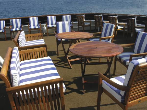 Ample deck space to relax on the Islander