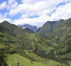 Panorama view in Ecuador