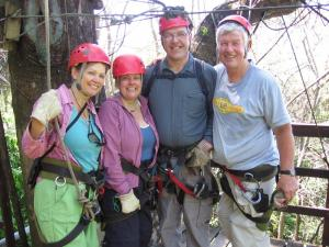 You're never too old to zipline!