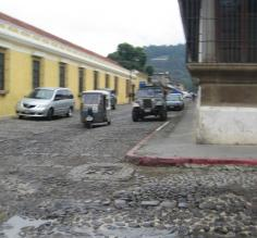 Cobblestone streets in Antigua
