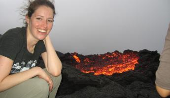 Approaching the lava flow on Pacaya Volcano