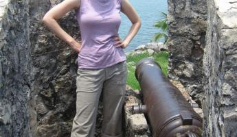 Me at the castle - Rio Dulce / Lake Izabal