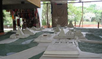 Arriving at Tikal - A model of the ruins