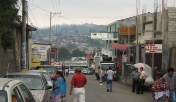 Arriving in Coban