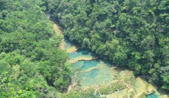 The pools at Semuc Champey - Breathtaking!