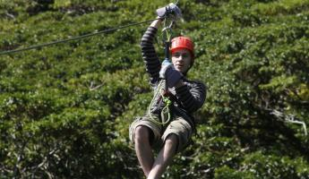 Experience the rush of the zip line in Costa Rica