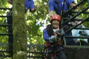 Swing through the jungle on a Costa Rican zip line tour