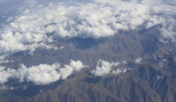 Flying into Bolivia from Peru