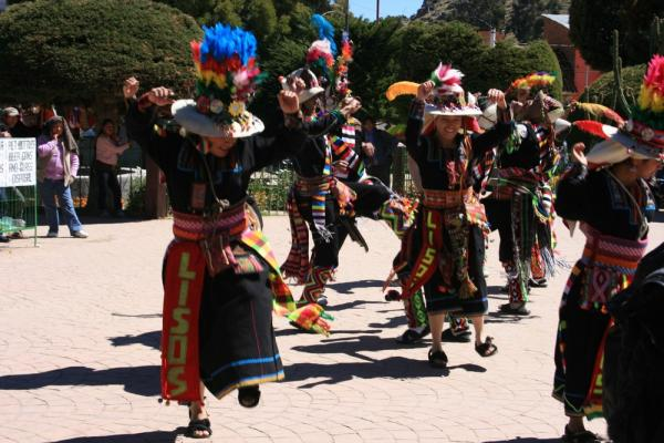 dancing in Lake Titicaca