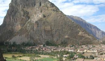 Looking out over Ollantaytambo