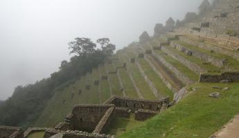 Machu Picchu in the morning clouds