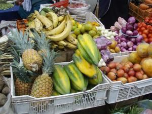 Fresh fruit in the Otavalo Market