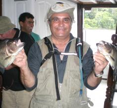 2 of 10 piranah caught..What teeth!